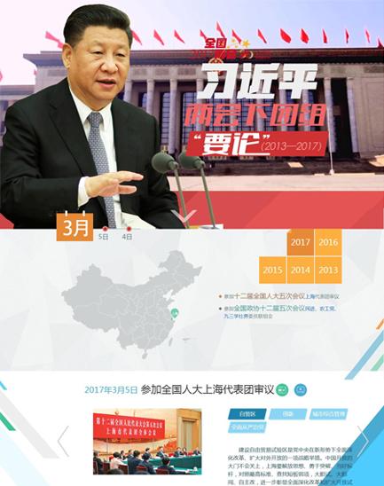"""习近平两会下团组""""要论""""(2013-2017)"""