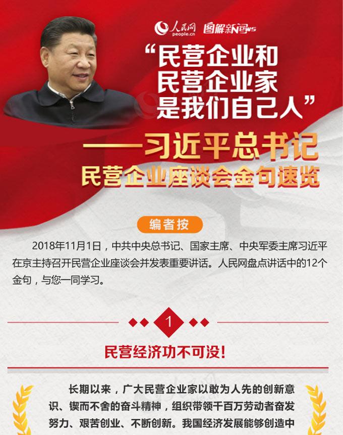图解:习近平总书记民营企业座谈会金句速览