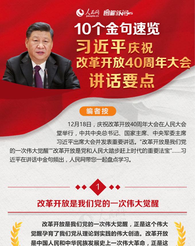 10个金句速览w88优德官网庆祝改革开放40周年大会讲话要点